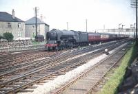 Long time Edinburgh resident A1 Pacific no 60162 <I>Saint Johnstoun</I> heads west through Saughton Junction on the last day of July 1959 and starts the gradual turn north with a train for Aberdeen.<br><br>[A Snapper (Courtesy Bruce McCartney)&nbsp;31/07/1959]