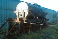 A repatriated oil tank wagon at the Shed 47 Group site at Lathalmond on 6 November 2011. Recently delivered from Boness but originally from RNSD Lathalmond.<br><br>[Grant Robertson&nbsp;06/11/2011]