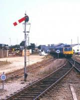 The branch train leaving St Erth for St Ives in August 1995.<br><br>[Ian Dinmore&nbsp;/08/1995]
