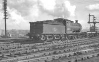 J27 0-6-0 no 65821 with a down freight passing through Heaton Yard, thought to have been taken on 25 May 1963.<br><br>[K A Gray&nbsp;25/05/1963]