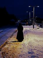 Legend tells of a mysterious female figure, dressed in black, often seen wandering the platforms following the departure of  the last train... These appearances stopped suddenly, around the same time Scottish Widows opened their local branch office. View east on a cold evening at Keith station in January 2010.<br><br>[Brian Taylor&nbsp;03/01/2010]