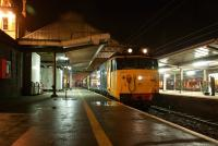 Approaching midnight on 19 November 2011 as 50049+50044 arrive back in Preston with the Spitfire Railtours <I>'Edinburgh Explorer II'</I>, following an outing lasting almost 19 hours  and including visits to Yorkshire, Edinburgh and the Kingdom of Fife [see image 36478]. <br><br>[John McIntyre&nbsp;19/11/2011]
