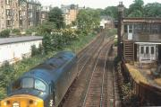 A class 40 runs light engine east through Newington in 1971 approaching the station's abandoned island platform [closed September 1962].<br><br>[Bill Roberton&nbsp;//1971]