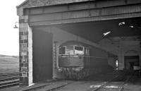 A lonely looking Type 2 at Keith shed in July 1962. [See image 5347]<br><br>[R Sillitto/A Renfrew Collection (Courtesy Bruce McCartney)&nbsp;/07/1962]