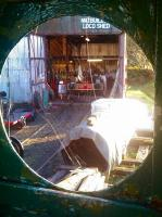 View from the footplate of NCB 29, showing sister locomotive NCB 17 at Shed 47, Lathalmond, on 6 November 2011 [see image 29863]. <br><br>[Grant Robertson&nbsp;06/11/2011]