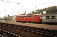 A train for Koblenz about to leave Remagen in 1997.<br><br>[Colin Miller&nbsp;//1997]
