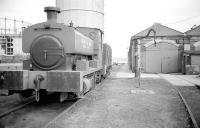 Granton Gasworks No 10 (Andrew Barclay 1890 of 1926) outside her shed awaiting removal to the Strathspey Railway in 1973. Later used by the Lochty Private Railway and now at KFRPS Methil.<br><br>[Bill Roberton&nbsp;//1973]