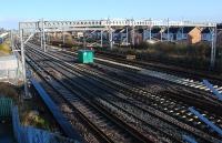 How many tracks is that? Looks like six. The line has been transformed between Wallneuk Junction and Arkleston Junction. The view looks east.<br><br>[Ewan Crawford&nbsp;27/11/2011]