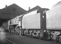 BR Standard class 9F 2-10-0 no 92017 photographed on 29 April 1967 in the shed yard at Kingmoor.<br><br>[K A Gray&nbsp;29/04/1967]