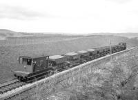 D3929 with a ballast train during PW works at Kilruskin cutting near West Kilbride on Easter Sunday 14 April 1963. [See image 36500]<br><br>[R Sillitto/A Renfrew Collection (Courtesy Bruce McCartney)&nbsp;14/04/1963]