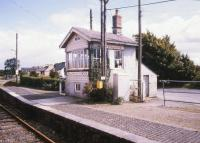 The box at the end of the platform. Ballyhaunis station, Co. Mayo, 1988.<br><br>[Ian Dinmore&nbsp;//1988]