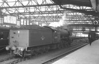 A3 Pacific no 60080 <I>Dick Turpin</I> stands on the middle road at Carlisle in July 1963 waiting to take over the 8.35am Glasgow St Enoch - London St Pancras. <br><br>[K A Gray&nbsp;27/07/1963]