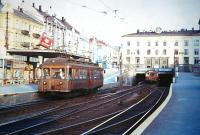 This is the Holmenkollbanen in July 1967. It runs from the west of the city of Oslo into the hills. Now modernised and part of the Metro System.<br><br>[Colin Miller&nbsp;/07/1967]