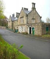 The Grade II listed former station building at Alston, opened in November 1852. Seen here in May 2006 looking south east up the hill towards Station Road.<br><br>[John Furnevel&nbsp;11/05/2006]