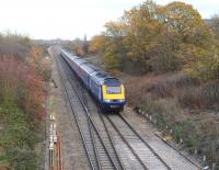 A First Great Western HST approaching Swindon from the east on 6 December 2011. <br><br>[Peter Todd&nbsp;06/12/2011]