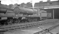 Robinson O4 2-8-0 no 63621 stands in the yard at Darnall shed, Sheffield, in May 1961.<br><br>[K A Gray&nbsp;27/05/1961]
