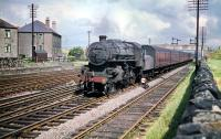 A westbound train, an ecs working based on the headlamp code, at Saughton Junction on 18 July 1959 headed by Ivatt 2-6-0 no 43132.<br><br>[A Snapper (Courtesy Bruce McCartney)&nbsp;18/07/1959]