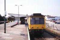 Main line and branch line services side by side at St Erth in August 1995.<br><br>[Ian Dinmore&nbsp;/08/1995]