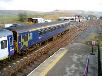 A Carlisle - Leeds service departs south from Kirkby Stephen on 24 February 2008. <br><br>[John McIntyre&nbsp;24/02/2008]
