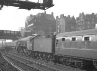 One of Canal shed's A3 Pacifics no 60068 <I>Sir Visto</I> has just taken over the 9.15am St Pancras - Edinburgh Waverley at Carlisle on 3 June 1960 and is about to head north with the train out of platform 4.<br><br>[K A Gray&nbsp;03/06/1960]