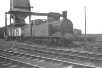 Class N15 0-6-2T no 69155 stands in front of the coaling plant at Carlisle Canal shed in July 1961.<br><br>[K A Gray 01/07/1961]