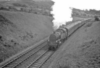 A train heading for Largs in the summer of 1962, photographed to the north of West Kilbride. <br><br>[R Sillitto/A Renfrew Collection (Courtesy Bruce McCartney)&nbsp;//1962]