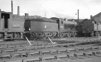 D34 4-4-0 no 62495 <I>'Glen Luss'</I> on Dawsholm shed in the late 1950s. [See image 35421]<br><br>[K A Gray&nbsp;//1959]