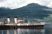 PS Waverley at Arrochar Pier in September 1955.<br><br>[A Snapper (Courtesy Bruce McCartney)&nbsp;06/09/1955]