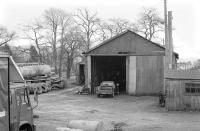 Goods shed - Beattock - February 1991.<br><br>[Bill Roberton&nbsp;18/02/1991]