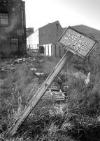 <I>Must not pass...</I> Scene of desolation at Leith East in 1975, looking back to the former level crossing over Salamander Place [see image 3175].<br><br>[Bill Roberton&nbsp;//1975]