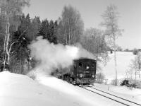 A bit more steam than I had bargained for! The 09.07 Eisfelder <br> Talm�hle - Gernrode between Stiege and Albrechtshaus on 24th February 1987.<br><br>[Bill Jamieson&nbsp;24/02/1987]