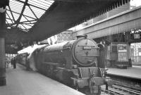 A2 Pacific no 60527 <I>Sun Chariot</I> stands at Aberdeen platform 6 in July 1962.<br><br>[R Sillitto/A Renfrew Collection (Courtesy Bruce McCartney)&nbsp;/07/1962]