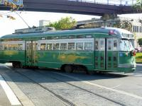 Single-ended PCC Streetcar no 1053 at Pier 39, San Francisco, on 7 December 2011. [Photo John Steven Jr.]<br><br>[John Steven Collection&nbsp;07/12/2011]