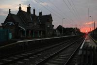 A late evening view north at Chathill Station, Northumberland, in July 2006.<br><br>[Brian Taylor&nbsp;05/07/2006]