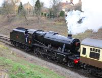 Another image of Stanier 8F 2-8-0 running in its Turkish Rail configuration as No. 45160 at Winchcombe on 29 December 2011.<br><br>[Peter Todd&nbsp;29/12/2011]