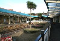 A slightly exotic-looking Whitby station. View towards the buffer stops in October 2008.<br><br>[John Furnevel&nbsp;02/10/2008]