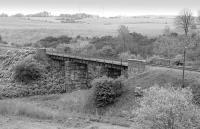 Viaduct over the River Ore on the Bowhill branch, Fife, located between Bowhill Junction and Glencraig Junction, carrying a line that served various collieries in the area west of Cardenden. Photographed looking south west in May 1991.<br><br>[Bill Roberton&nbsp;17/05/1991]