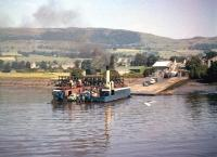 The north landing stage of the Erskine Ferry at Old Kilpatrick, Dunbartonshire, in August 1957. Beyond and to the left, just off Erskine Ferry Road, is the L&D station (closed 1964) and to the right a yard that became the last resting place for over 60 steam locomotives, courtesy Messrs Arnott Young [see image 36614]. The ferry service ended in 1971 with the opening of the Erskine Bridge.<br><br>[A Snapper (Courtesy Bruce McCartney)&nbsp;02/08/1957]