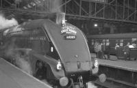 60009 <I>Union of South Africa</I> at Kings Cross on 24 October 1964 with the 7.50am RCTS/SLS <I>'Jubilee Requiem'</I> special to Newcastle Central. The train was run to mark the end of scheduled A4 operations over the East Coast Main Line between the 2 cities. [See image 29900]<br><br>[K A Gray&nbsp;24/10/1964]
