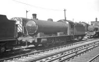 Raven Q6 0-8-0 no 63404 standing in the shed yard at Heaton in June 1961.<br><br>[K A Gray&nbsp;18/06/1961]