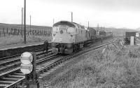 A class 26 waits to head south from Dalwhinnie with a works train on 15 October 1978.<br><br>[Bill Roberton&nbsp;15/10/1978]