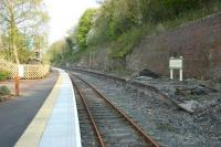 Platform side at Wolsingham on the Weardale Railway in May 2006. View is east in the general direction of Bishop Auckland [see image 37175].<br><br>[John Furnevel&nbsp;08/05/2006]
