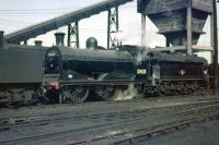 McIntosh ex-Caledonian 3F 0-6-0 no 57625 photographed in the summer of 1959 on Polmadie shed. <br><br>[A Snapper (Courtesy Bruce McCartney)&nbsp;16/05/1959]