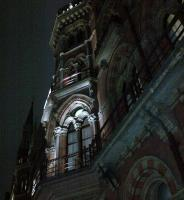 <I>There be vampires</I>... St. Pancras Hotel, looking suitably Gothic, on the evening of 11 November 2011.<br><br>[Ken Strachan&nbsp;11/11/2011]