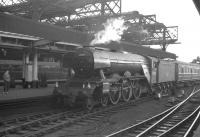 Summer Saturday 9.2am ex-Ely runs into Newcastle Central on 17 June 1961 having arrived via the High Level Bridge. Locomotive in charge is A3 Pacific no 60088 <I>Book Law</I>. <br><br>[K A Gray&nbsp;17/06/1961]