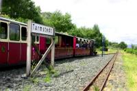Trains passing at Tarmstedt on the Isle of Mull Railway on 29 June 2010.<br><br>[Colin Miller&nbsp;29/06/2010]