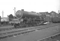 46201 <i>Princess Elizabeth</i> photographed in the shed yard at Kingmoor in the summer of 1962, around 2 months prior to withdrawal by BR.<br><br>[K A Gray&nbsp;04/08/1962]
