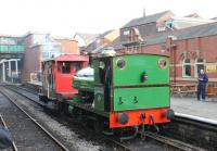 The immaculate Peckett 0-4-0ST <I>May</I> looks a picture while employed on brake van rides at Bury Bolton Street during the East Lancs autumn gala. Having worked for many years at nearby Yates & Duxbury's paper mills [See image 33097] she is very much at home in Bury. <br><br>[Mark Bartlett&nbsp;22/10/2011]