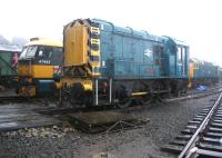 08443 stands in the pouring rain in the SRPS yard at Boness in September 2006.<br><br>[John Furnevel&nbsp;06/09/2006]