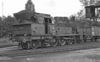 After taking water on Rottweil shed on 4 September 1974, No. 78 246 is stabled on an open road off the shed turntable while the crew takes a lunch break. <br> <br><br>[Bill Jamieson&nbsp;04/09/1974]